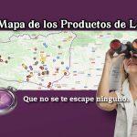 el mapa de los productos de León.